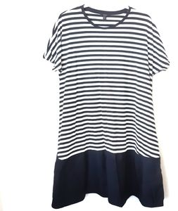 Cos Blue and White Stripe Dress